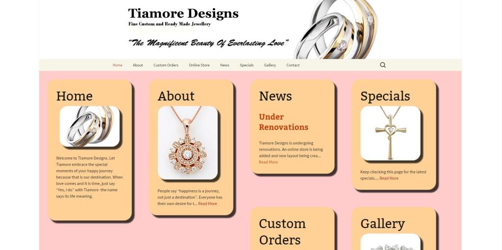 tiamore designs screenshot
