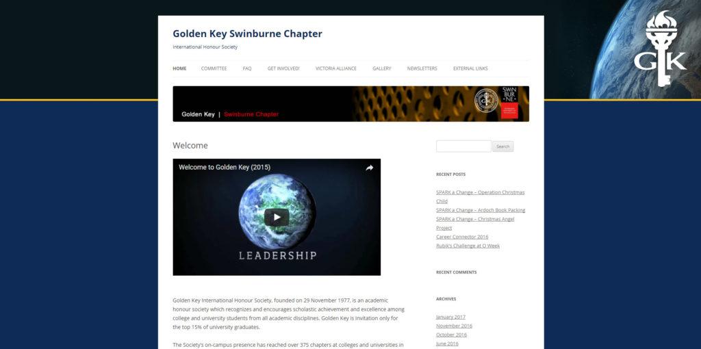 Golden Key Swinburne Website Screenshot (19-8-17)