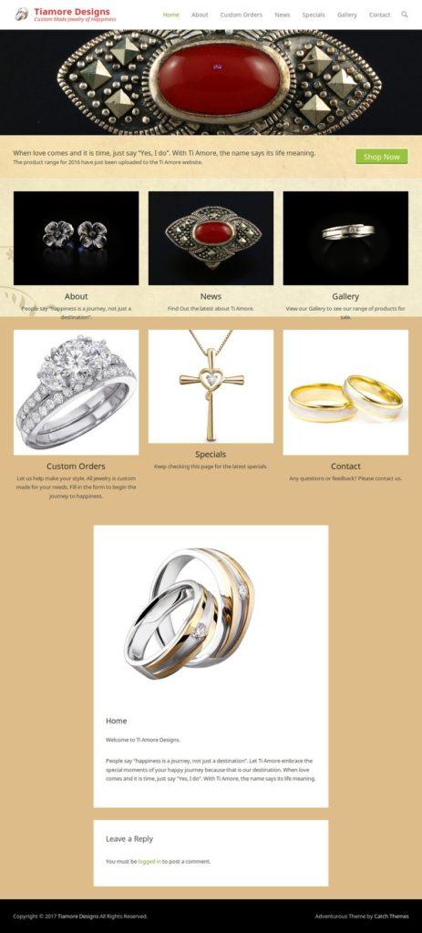 Tiamore Designs Website Screenshot (19-8-17)