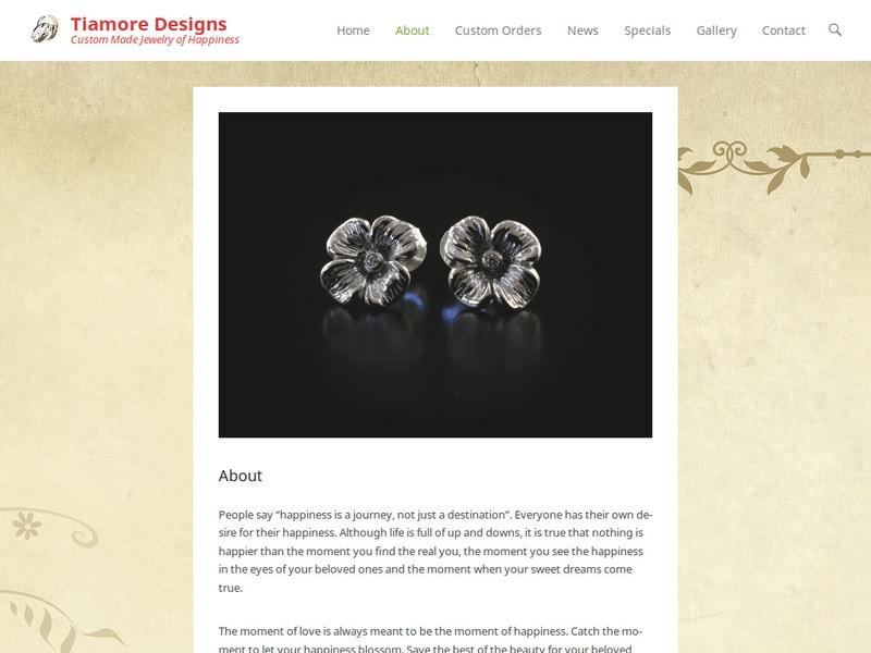 Tiamore Designs Website Screenshot 2 (19-8-17)